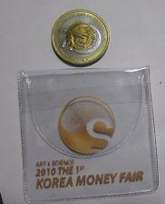 2012 the 3rd Korea money fair tri metallic medal manufactured by KOMSCO