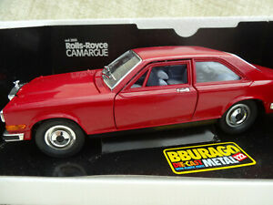 Burago 1/22  Rolls-Royce Camargue Red Car Boxed
