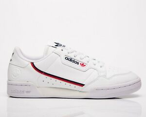 adidas Originals Continental 80 Vegan Men's White Navy Red Lifestyle Sneakers