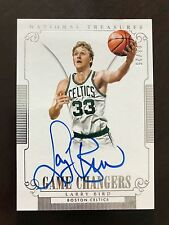 LARRY BIRD 2014-15 National Treasures Game Changers On Card AUTO Celtics /25
