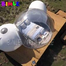 Outdoor Giant Inflatable Luxury Camping Site Bubble Tent With 2 Tunnels Clear