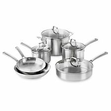Calphalon Classic Stainless Steel 10-Piece Cookware Set fry pan saute warranty