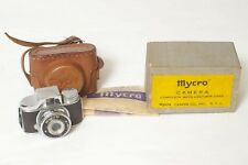 F8512~ 1948 Mycro Subminiature I Model Camera, Case, ½ Box & Instructions