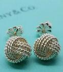 Tiffany & Co. 925 Sterling Silver Twist Love Knot Stud Earrings