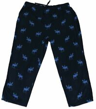 NEW BIG & TALL HARBOR BAY MEN'S NAVY BLUE MOOSE FLEECE LOUNGE PANTS PJS PAJAMAS
