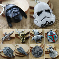 Star Wars Metal Keychain Millennium Falcon Darth Vader Yoda Cartoon Keyring Gift