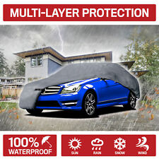 XXL Multi-Layer Full Car Cover Waterproof All Weather UV Rain Dust Protection