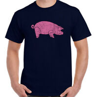Dave Gilmour T-Shirt Mens Pig Pink Floyd As Worn By Top Retro Rock Band Guitar