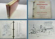 Massey Ferguson MF35 MF35X Tractors Parts Book Parts List 08/1969