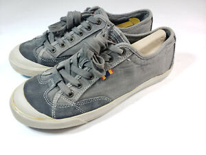 Fossil Phillip Canvas Ox Men's Shoes Gray Suede Sz 9 Sneakers Skate Tennis Auth