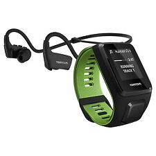 TomTom Runner 3 Cardio & Music With Headphones - Black/Green - Large
