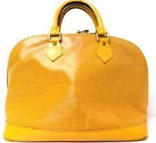 Authentci Louis Vuitton Epi Alma Handbag Yellow M52149