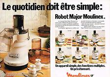 PUBLICITE ADVERTISING 055  1979  MOULINEX  le ROBOT MAJOR MOULINETTE (2p