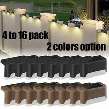 4-16Pcs Solar LED Bright Deck Lights Outdoor Garden Patio Railing Path Lighting