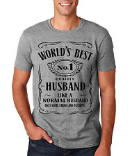 World Best Husband No 1 Mens T shirt Birthday Gift Valentine Funny Lovers S-5XL