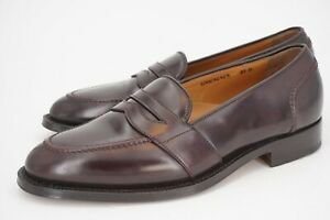NEW | $748 BROOKS BROTHERS GOLDEN FLEECE 9.5 D SHELL CORDOVAN BURGUNDY LOAFER