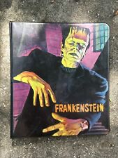 Vintage RARE 1960s HASBRO FRANKENSTEIN THREE RING BINDER