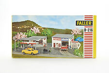 Lot 1810038 Faller B-216 AMS Tankstelle + Waschhalle, Plastikbauw., 1971-75, OVP