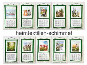Textiler Wandkalender 2022 Textilkalender Stoffkalender Kalender Baumwolle 35x65