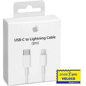 Cavo USB tipo C Lightning 2 Metri ORIGINALE per Apple iPhone X XS 11 12 PRO MAX