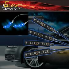"""2"""" Neon Blue Rubber LED Strip (4-piece) for Car Boat and Motorcycle & Parties"""