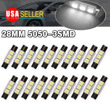 20x Pure White 28-29MM Fuse Led Sun visor Vanity Mirror Light  bulbs