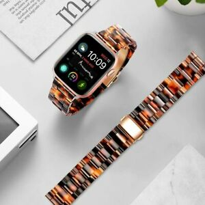 Luxury Resin iWatch Band Strap For Apple Watch Series 6 5 4 3 SE 44/42/40/38 mm