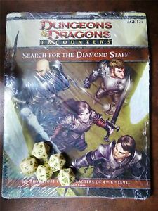 D&D 4e Search for the Diamond Staff and 5 Exclusive Dice #HQ