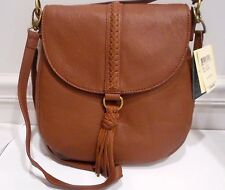 "NWT,Lucky Brand,Brandy Color, Genuine Leather,"" Ali "" Cross Body / Shoulder Bag"