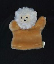 Peluche doudou marionnette lion BABY'NAT caramel blanc crème beige NEUF