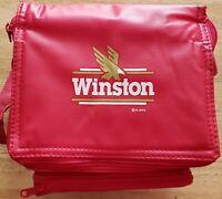 Vintage WINSTON 6-Pack Red Nylon Cooler Bag W/Built In FM Radio and Speaker New