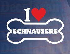 I Love/coeur Schnauzers Fantaisie Os Voiture/Sticker Camion Idéal pour