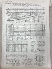 Walney Channel Viaduct At Barrow In Furness: 1908 Engineering Magazine Print