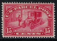 SCOTT Q7 1913 15 CENT AUTOMOBILE SERVICE PARCEL POST ISSUE MH OG VF CAT $60!