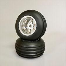Truggy Neumáticos 1:10 Straight Rail pro Comp Ruedas con Llanta Cromo Asso