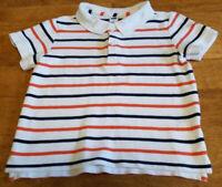 Janie & Jack Striped Polo Style Shirt Boys Sz 3 Toddler Short Sleeves VGUC