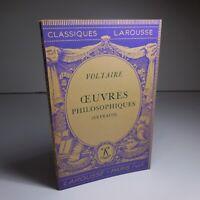 Voltaire 1934 œuvres philosophiques extraits littérature Larousse France N6849