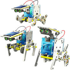Kid 14 In 1 Educational Solar Transformers Robot Creative DIY Assemble Kit Toy