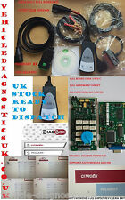 Lexia 3 Peugeot Citroen PP2000 Interfaz de Diagnóstico CAN BUS DIAGBOX Rev C V50 V7