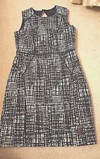 H&M Size 8 Panelled Geometric Dress Full Lined