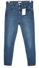 Topshop SUPER SKINNY JAMIE High Waisted Dark BLUE Stretch Jeans Size 16 W34 L30