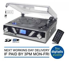 Steepletone ST930 Pro 3-Speed Vinyl Record Player with MP3 to USB/SD Recording