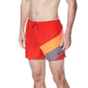 Nike Swim Men's 4-inch Volley Board Shorts University Red