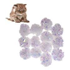 10pcs Crinkle Balls Cat Pet Kitten Shiny Crackle Colorful Sound Ball Interactive