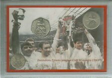 Swindon Town Vintage League Cup Final Winners Retro Coin STFC Fan Gift Set 1969