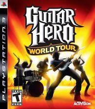 PS3 GIOCO GUITAR HERO WORLD TOUR PLAYSTATION 3 PAL