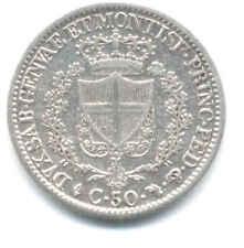 CARLO FELICE 50 CENTESIMI 1827 TORINO REGNO DI SARDEGNA  MONETA ARGENTO