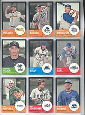 Lot (86) Different 2012 Topps Heritage Minors Black Borders ... Numbered of / 96
