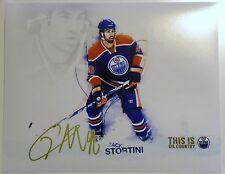 Edmonton Oilers Zack Stortini Signed 8x10 Photo Auto