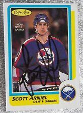 Buffalo Sabres Scott Arniel Signed 86/87 O-Pee-Chee Card Auto